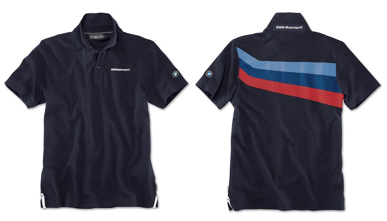 7c9a75b4db1 Pánské tričko polokošile BMW s límečkem Motorsport team blue ...