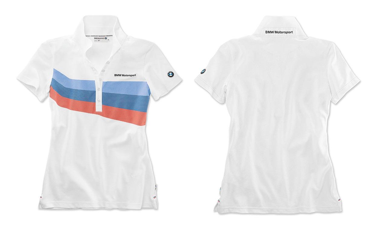 Dámské tričko s límečkem polokošile BMW Motorsport bílé  b55a83ba354