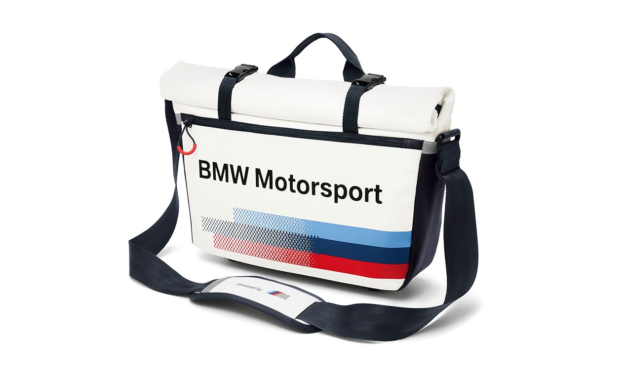 "Taška BMW motorsport přes rameno s kapsou na notebook do 15"" messenger bag"